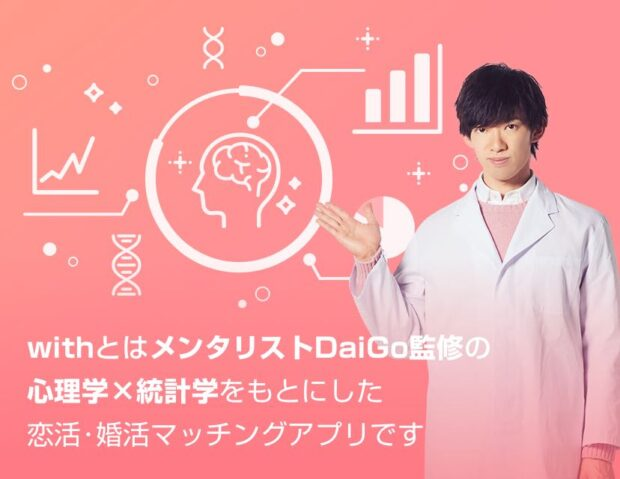 メンタリストDaiGo監修のマッチングアプリ